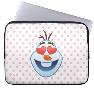 Frozen Emoji | Olaf with Heart-Shaped Eyes Laptop Sleeve