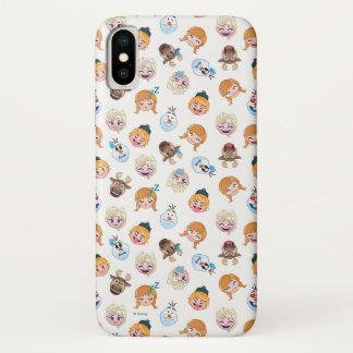 Frozen Emoji Pattern iPhone X Case