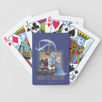 Frozen | Family is Tradition 2 Bicycle Playing Cards