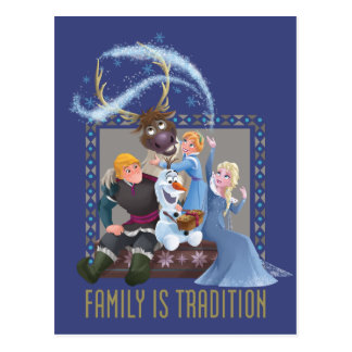 Frozen | Family is Tradition Postcard