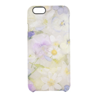 Frozen flowers clear iPhone 6/6S case