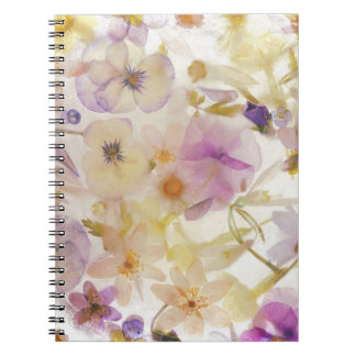 Frozen flowers notebooks