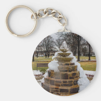 Frozen Fountain Basic Round Button Keychain