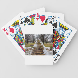 Frozen Fountain Bicycle Playing Cards