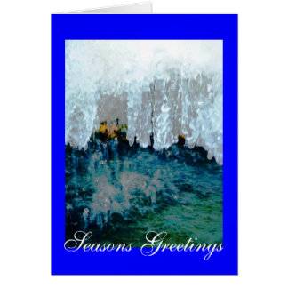 Frozen Fountain Seasons Greetings Greeting Card