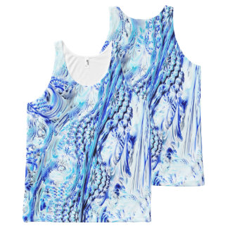 Frozen Fractal Landscape All-Over-Print Tank Top