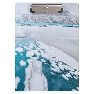 Frozen glacier ice, Iceland Clipboard