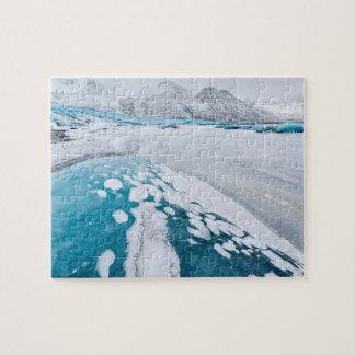 Frozen glacier ice, Iceland Jigsaw Puzzle