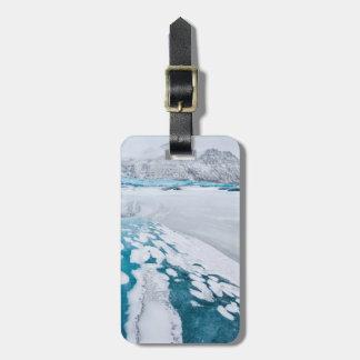 Frozen glacier ice, Iceland Luggage Tag