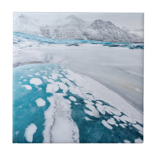 Frozen glacier ice, Iceland Tile