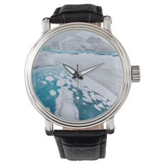 Frozen glacier ice, Iceland Wristwatches