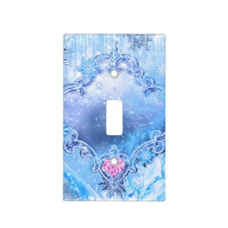 Frozen Ice & Snowflakes Winter Wonderland Sparkle Light Switch Cover