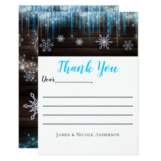 Frozen Icicles Winter Wonderland Thank You Card