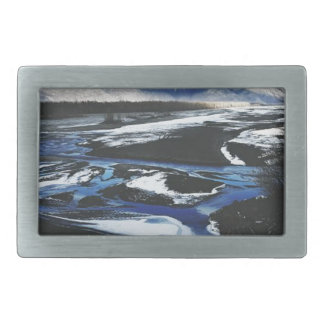 Frozen Knik River Belt Buckles