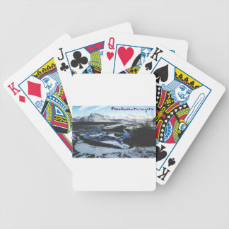 Frozen Knik River Bicycle Playing Cards