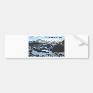 Frozen Knik River Bumper Sticker