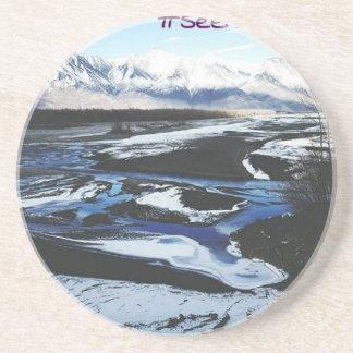 Frozen Knik River Coasters