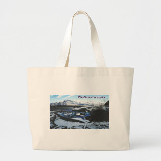 Frozen Knik River Large Tote Bag