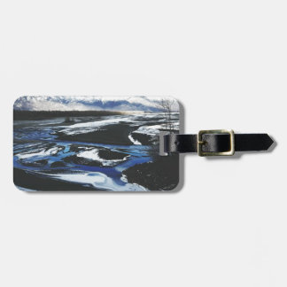 Frozen Knik River Luggage Tag