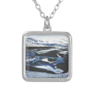 Frozen Knik River Silver Plated Necklace