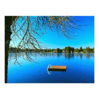 Frozen Lake at Noon Photo Print
