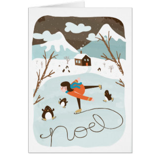 Frozen Lake Holiday Greeting Card