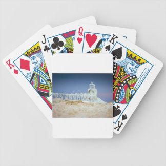 Frozen Lighthouse Bicycle Playing Cards