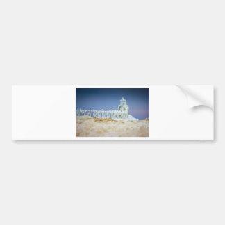 Frozen Lighthouse Bumper Sticker
