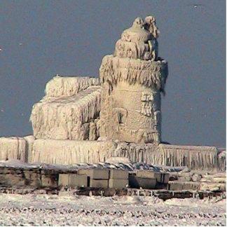 Frozen Lighthouse, Cleveland Standing Photo Sculpture
