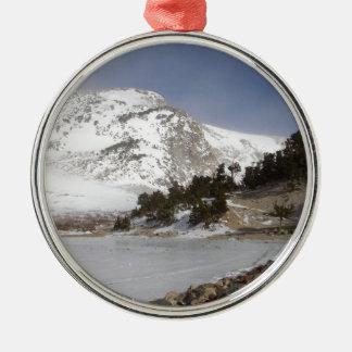 Frozen Mountain Metal Ornament