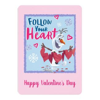 Frozen - Olaf | Follow Your Heart Valentine Card
