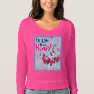 Frozen - Olaf | Follow Your Heart Valentine T-shirt