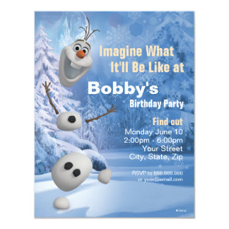 Frozen Olaf | In Pieces Birthday Invitation
