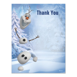 "Frozen Olaf | In Pieces Thank You 4.25"" X 5.5"" Invitation Card"