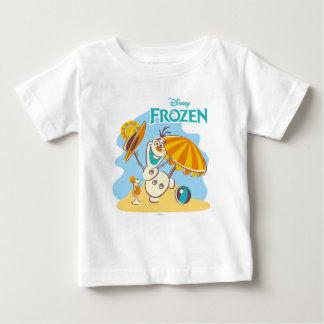 Frozen | Olaf Playing on the Beach Baby T-Shirt