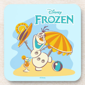 Frozen | Olaf Playing on the Beach Beverage Coasters