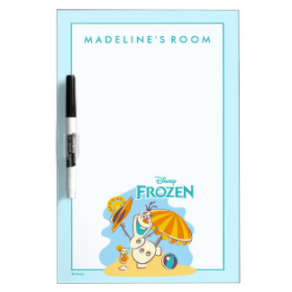 Frozen | Olaf Playing on the Beach Dry Erase Board