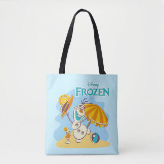 Frozen | Olaf Playing on the Beach Tote Bag