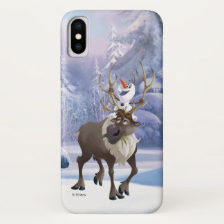 Frozen | Olaf sitting on Sven iPhone X Case
