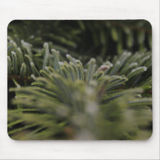 Frozen Pine Tree Mouse Pad