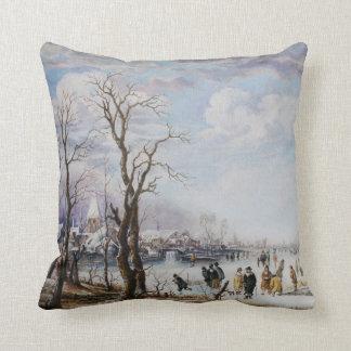 Frozen river American MoJo Pillow