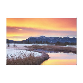 Frozen River With Snow Gallery Wrapped Canvas