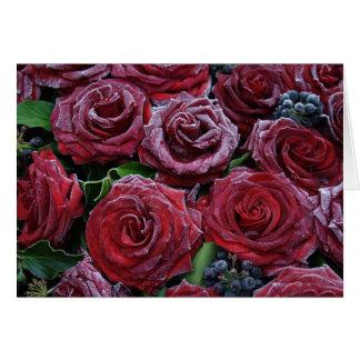 Frozen Roses Card