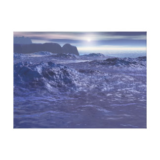 Frozen Sea of Neptune Canvas Print