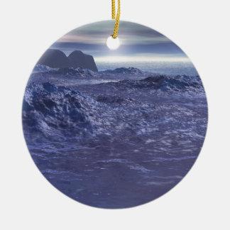Frozen Sea of Neptune Ceramic Ornament