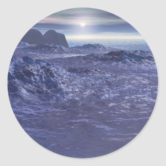 Frozen Sea of Neptune Classic Round Sticker