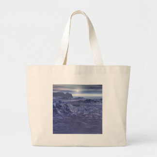 Frozen Sea of Neptune Large Tote Bag