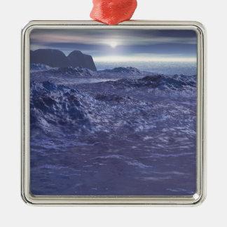 Frozen Sea of Neptune Metal Ornament