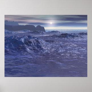 Frozen Sea of Neptune Poster