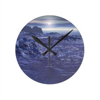 Frozen Sea of Neptune Round Clock